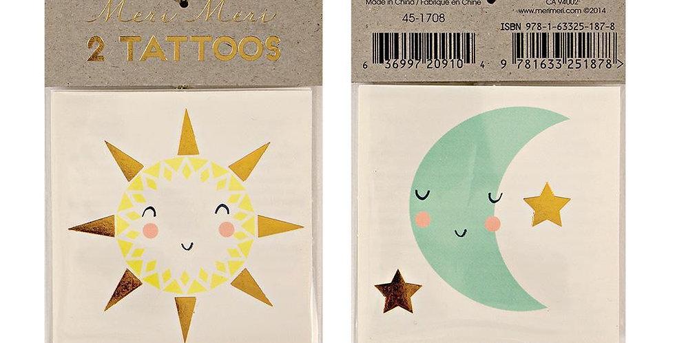Sonne & Mond-Tattoo - Meri Meri
