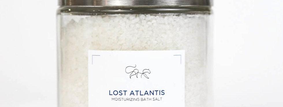 Lost Atlantis with Sodium carbonate - Badesalz magnum -  Blue peony & lime