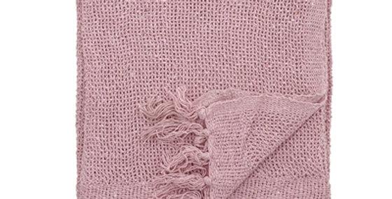 Kuscheldecke / Überwurf rosa