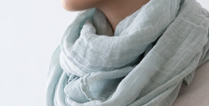 Summer scarf - Ice Blue