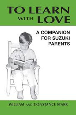 To Learn With Love - Suggested Parent Reading