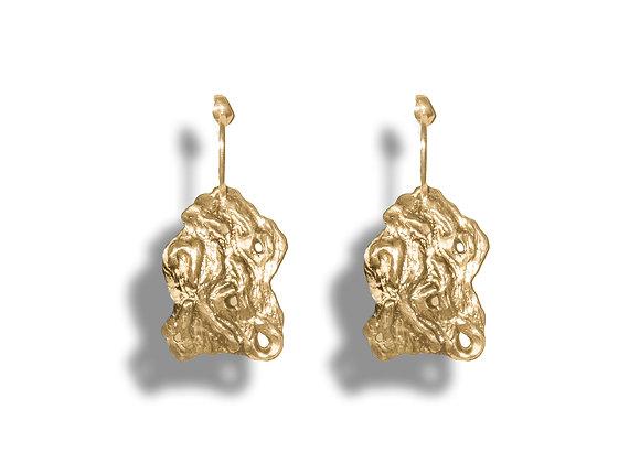Gold Abandoned Earring