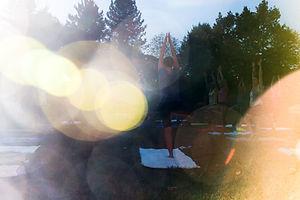 Yoga im Park, Anfänger, Natur, Meditation,
