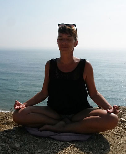 Yoga, Meditation, Friede, Meer, Hathayoga, Mudra, Gelassenheit, Zufriedenheit, Glück