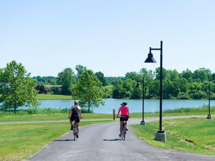 Biking by the Lake at Friedman Park