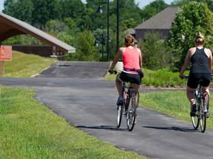 Biking at Friedman Park