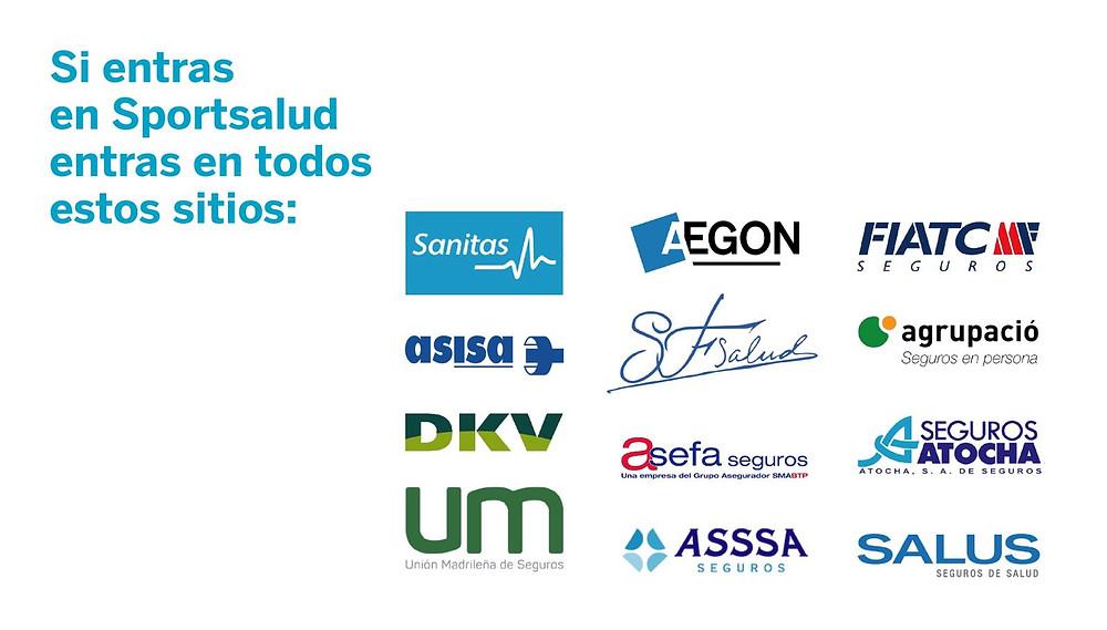 Seguros de salud que confían en la calidad asistencial y profesionalidad del Dr. Alberto Sacristán en SportSalud