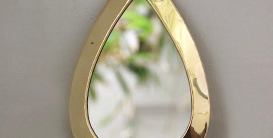 Petit miroir doré goutte