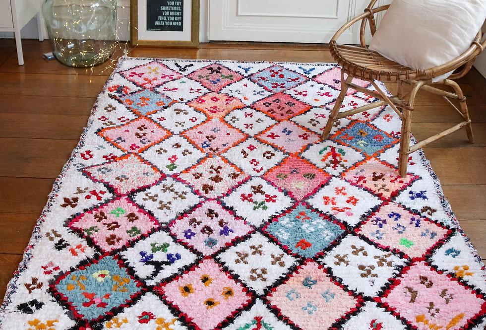 MILLA - Berber rug Boucherouite 135x224cm