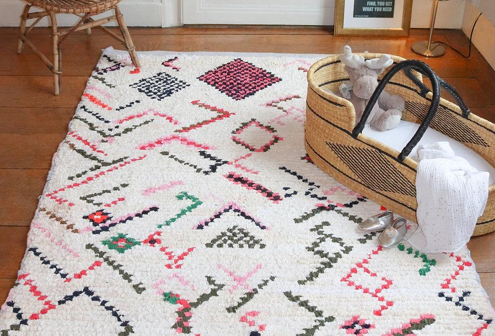 EYA - Boucherouite Berber rug 150x200cm