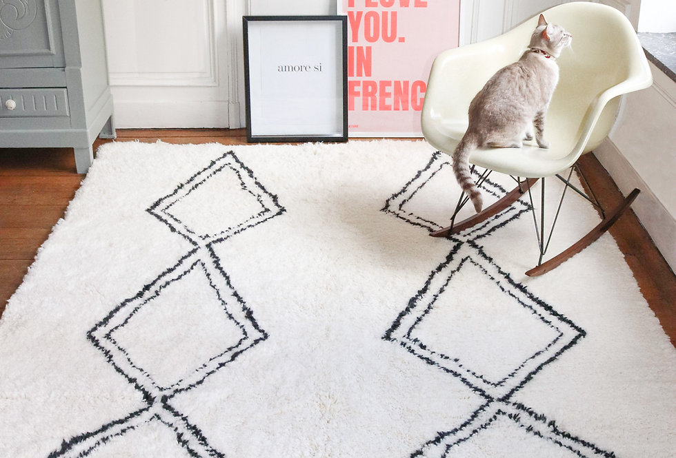 TAYRI  By Céline Marks - Berber rug Beni Ouarain 180x250cm