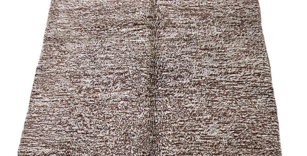 Brown Berber wool carpet handmade