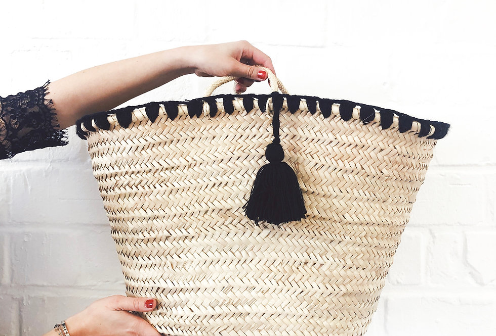 Large embroidered basket BESSA