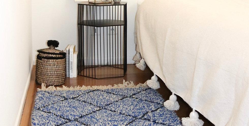 Tapis berbere bleu en laine 80x100cm lille