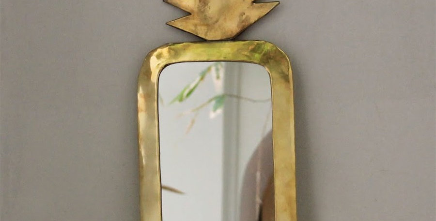 Golden PINEAPPLE mirror