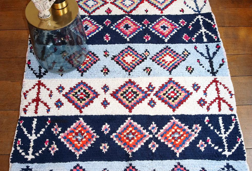 ILMA - Boucherouite Berber rug 140x185cm