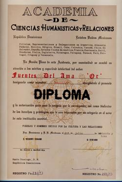 Diploma de las Ciencias Humanisticas