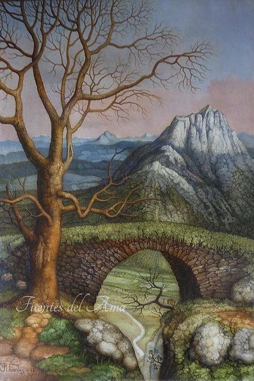 Puente al alba 30,5x20,5 cm