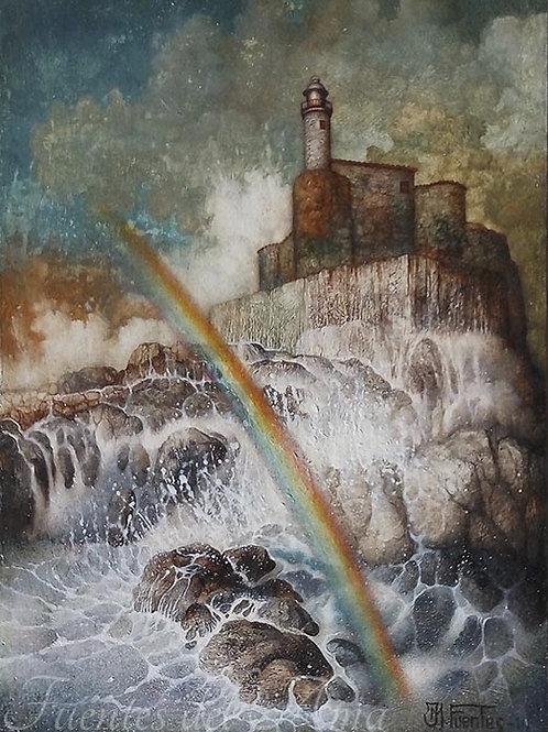 El Faro del Arco Iris 22x16 cm