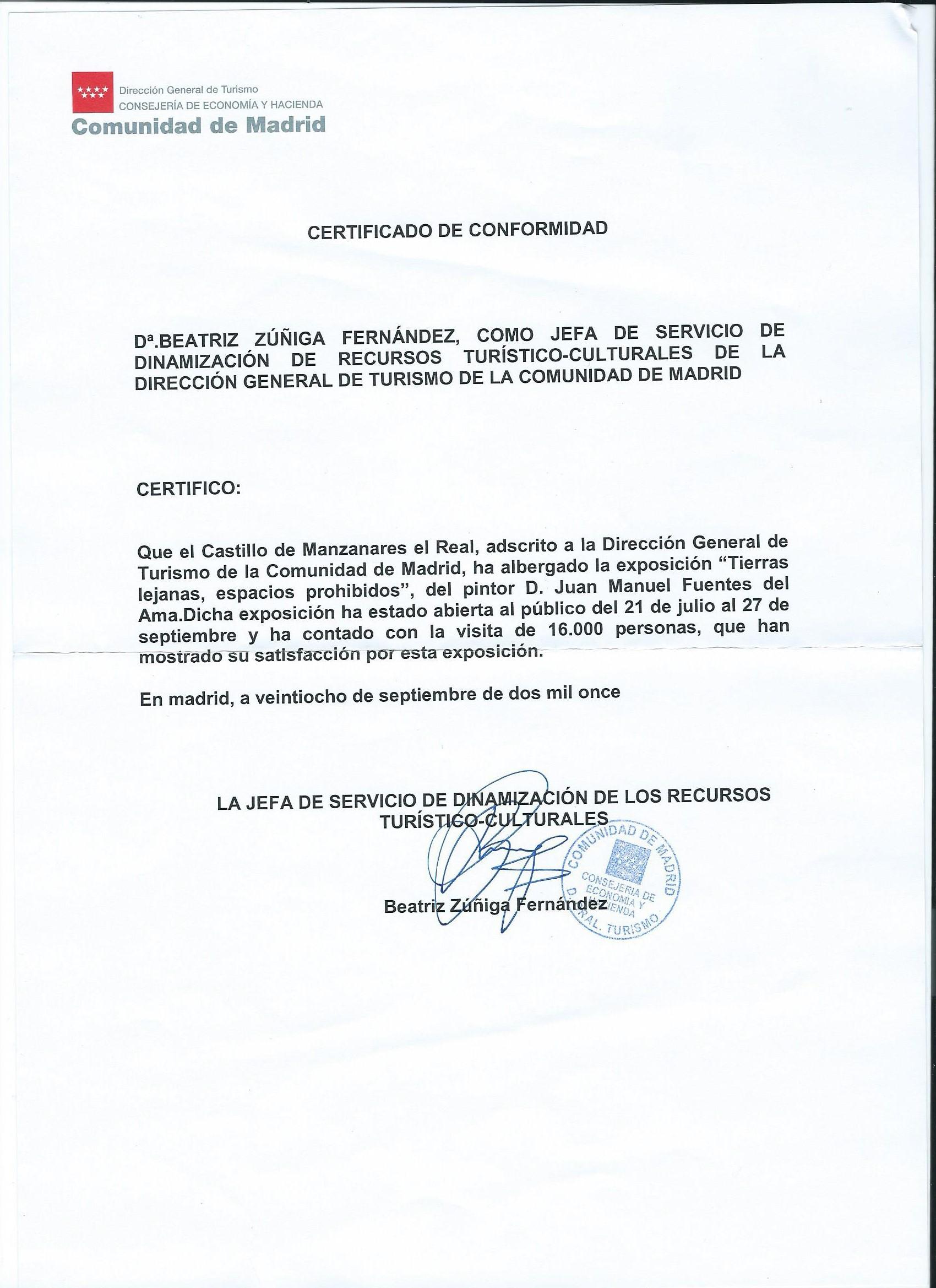 Manzanares el Real -Informe