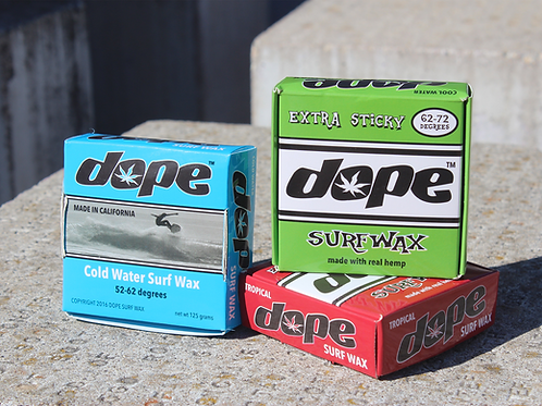 Dope 3-Pack Surfwax (Cold, Warm, and Hot Water)