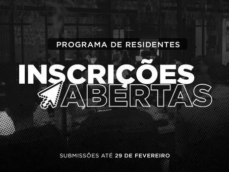 Programa de residentes: inscrições abertas