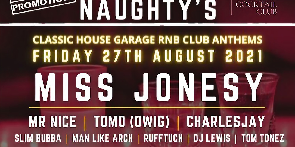 Back To The Naughty's Guest List. £10 on the door.