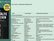 Auszeichnung im FOCUS Magazin als Top 20 Wirtschaftskanzlei für Schlichtung & Mediation