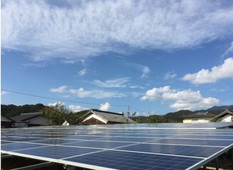 株式会社S様発電所 パネル設置完了