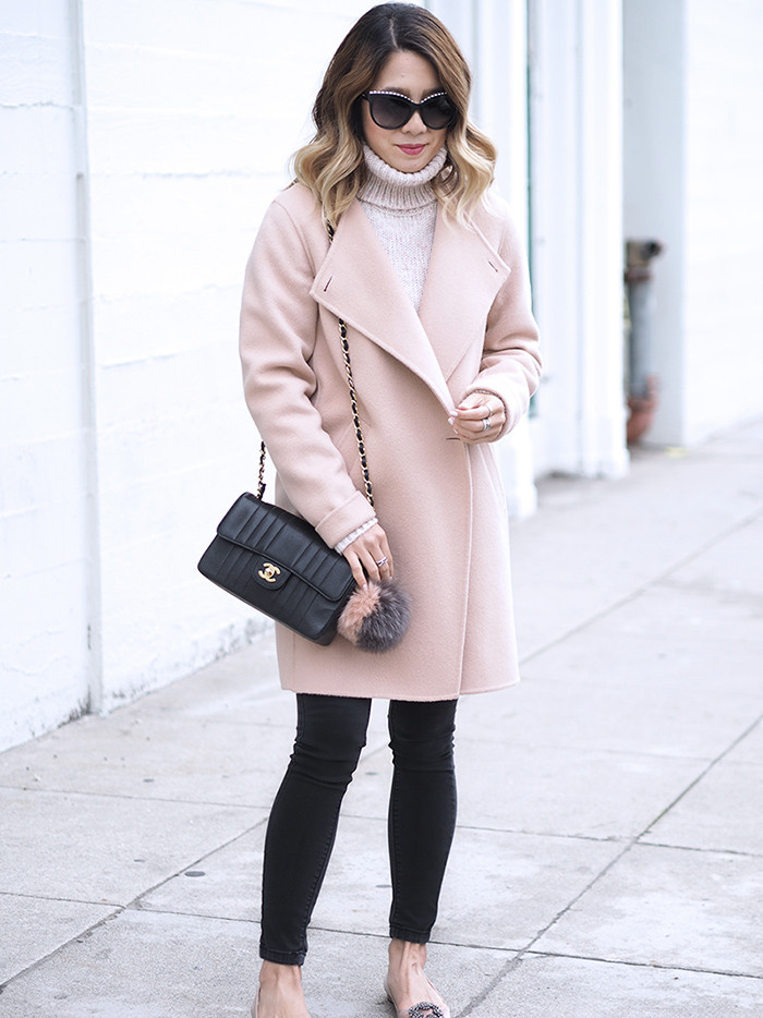 Theory Blush Pink Coat | Lam in Louboutins