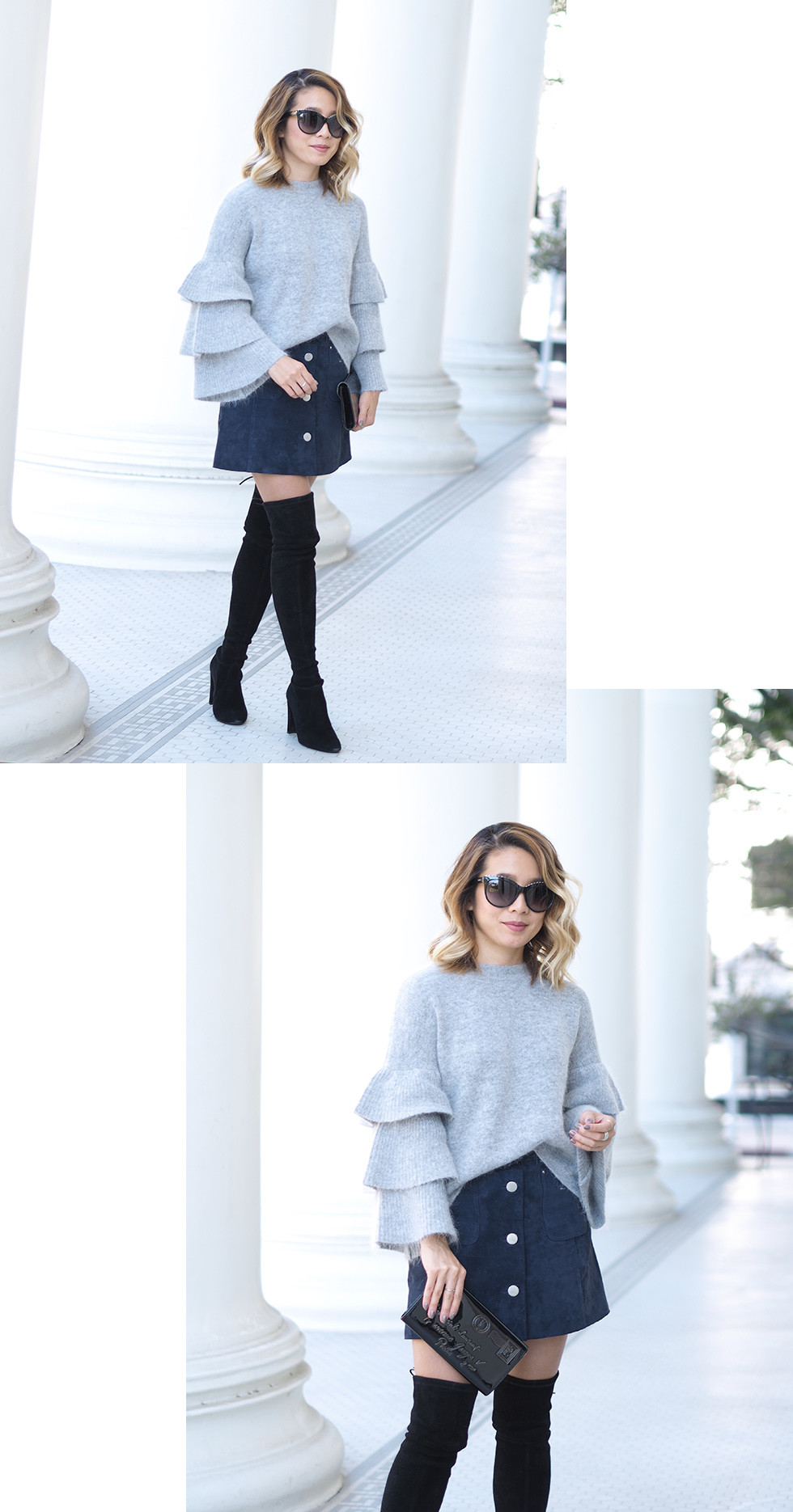 Ruffle Sleeve Sweater | Lam in Louboutins