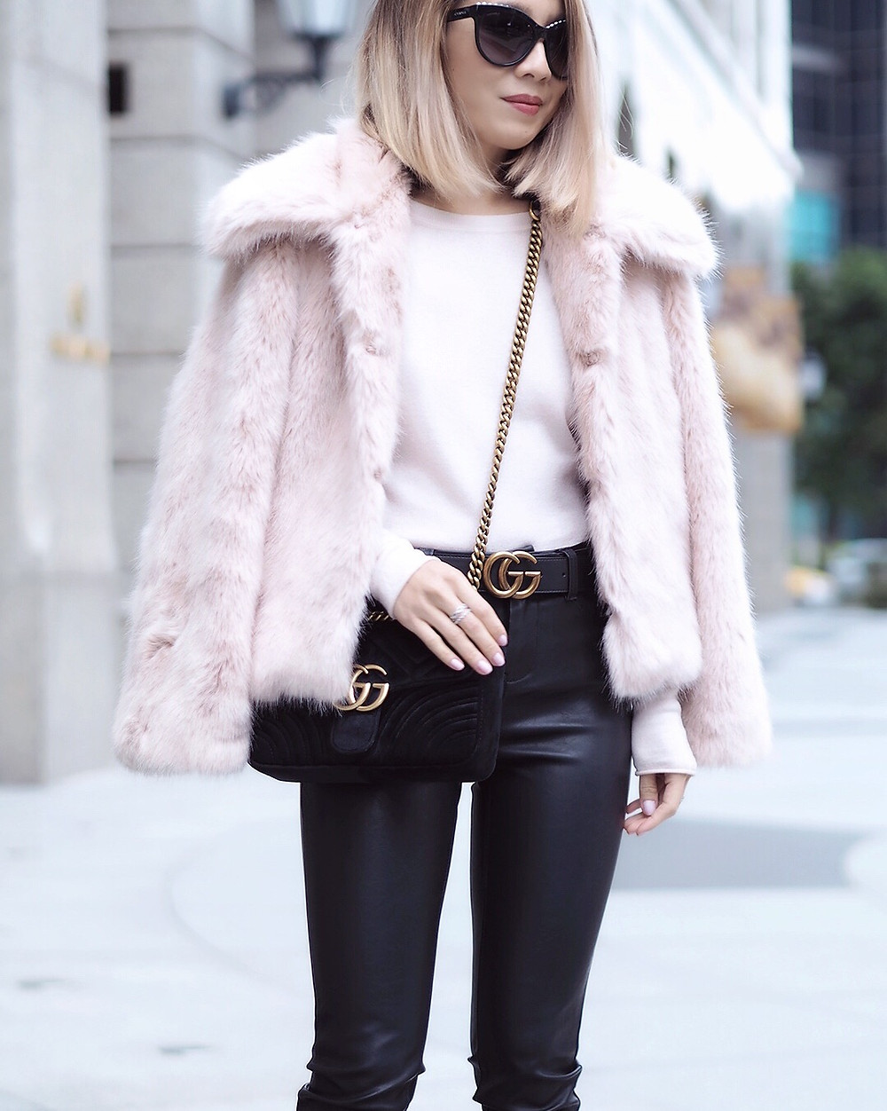 Topshop Faux Fur Jacket | Lam in Louboutins