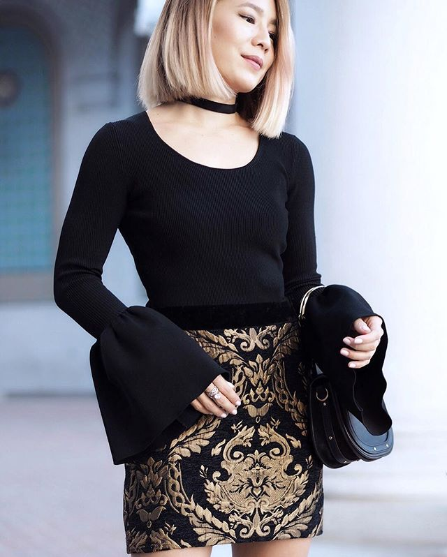 Endless Rose Brocade Skirt