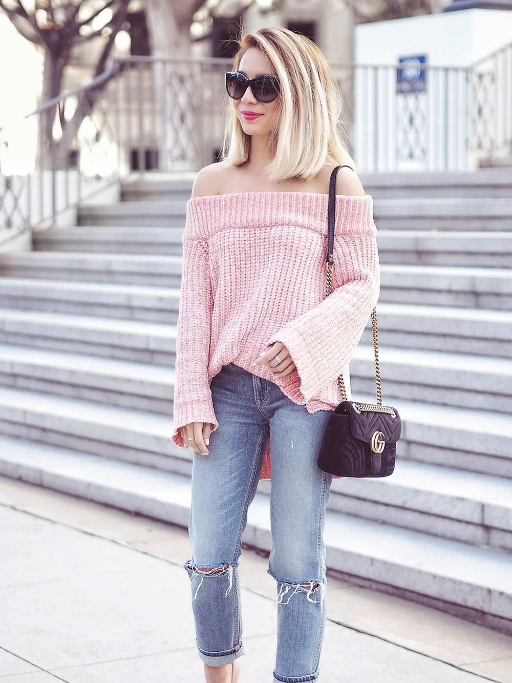 English Factory Off Shoulder Sweater | Lam in Louboutins
