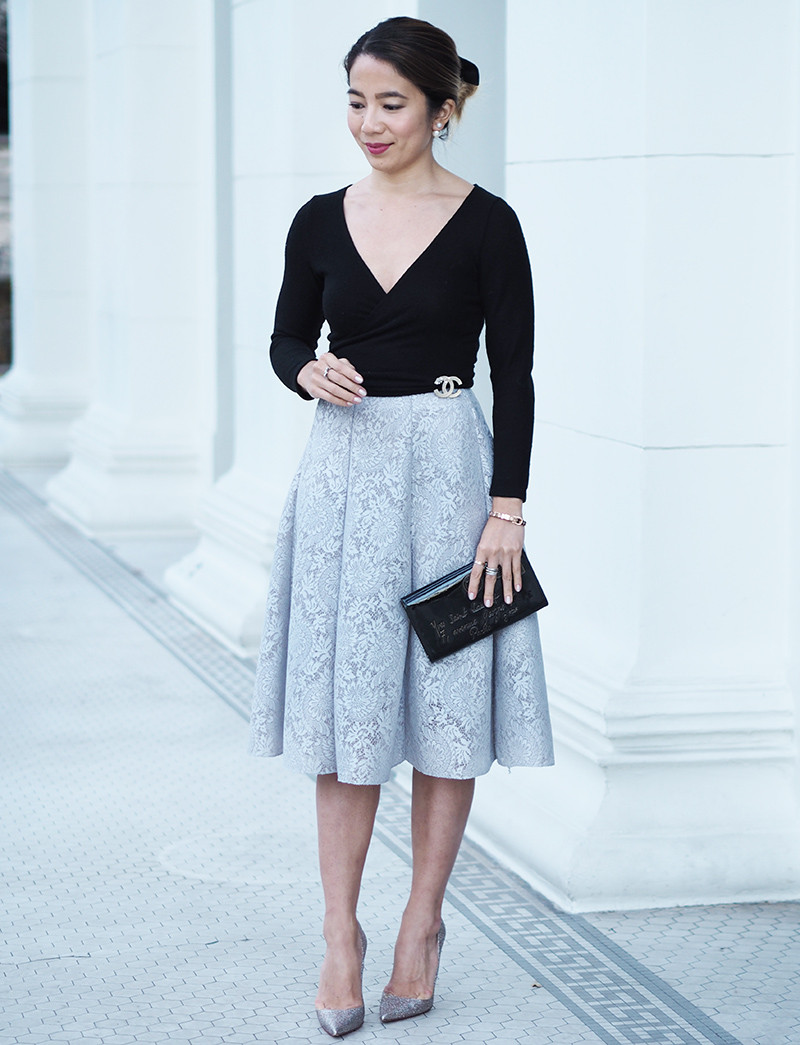 Chicwish Lace Skirt | Lam in Louboutins