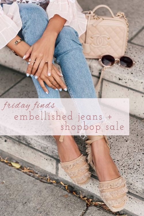 Friday Finds: Embellished Jeans + Shopbop Sale | Lam in Louboutins