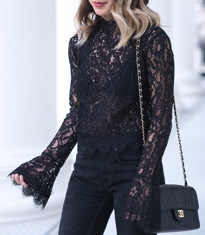 Lace Bell Sleeve | Lam in Louboutins