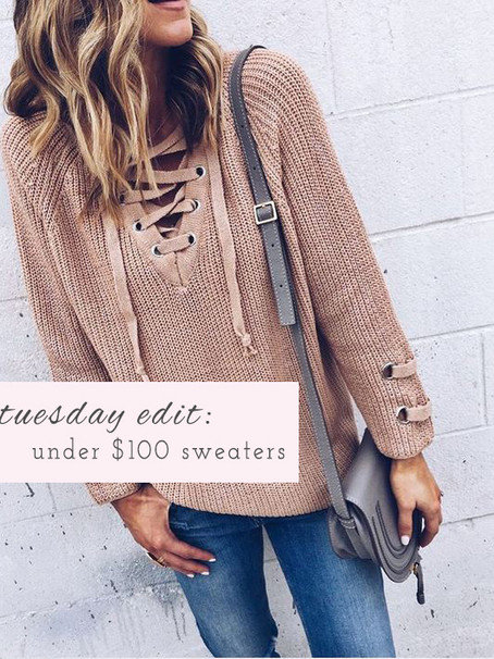 Tuesday Edit: Under $100 Sweaters