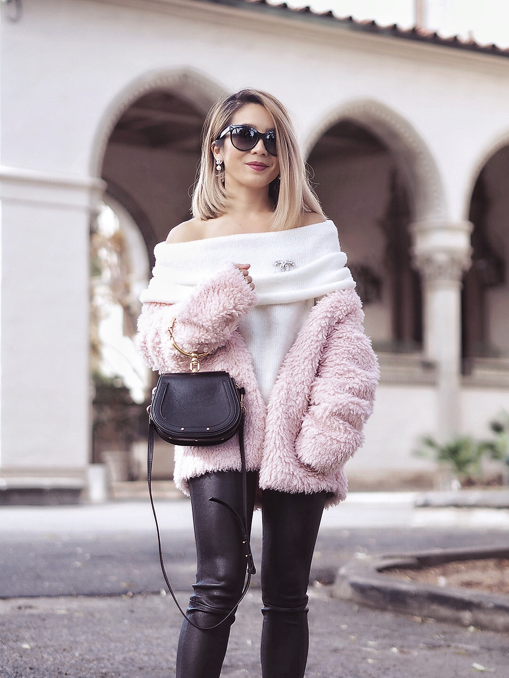 SheIn Faux Fur Jacket | Lam in Louboutins