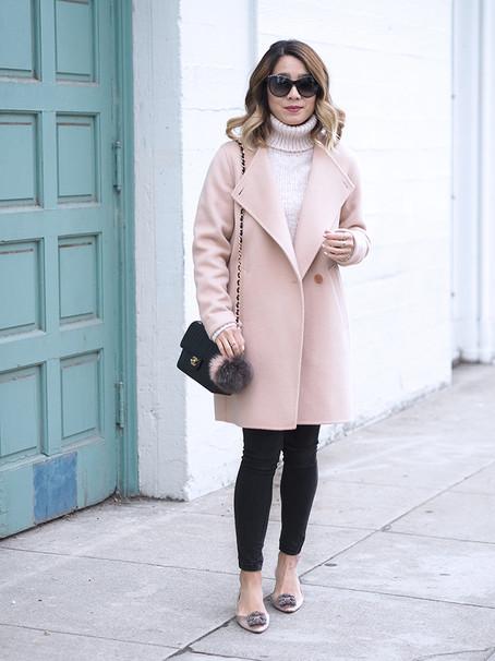 Theory Blush Pink Coat