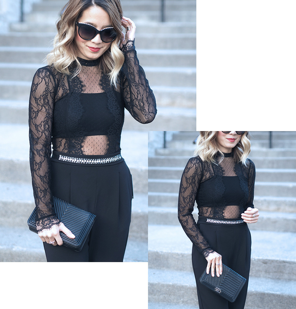 Lace Jumpsuit | Lam in Louboutins