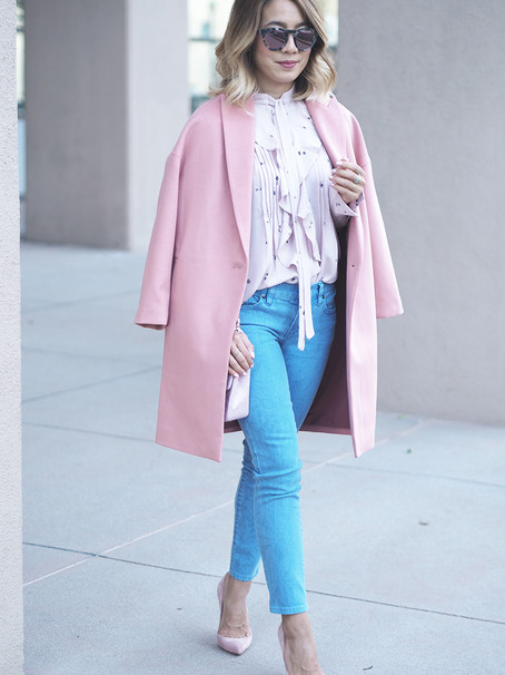 How to Layer Fall Colors: Blush