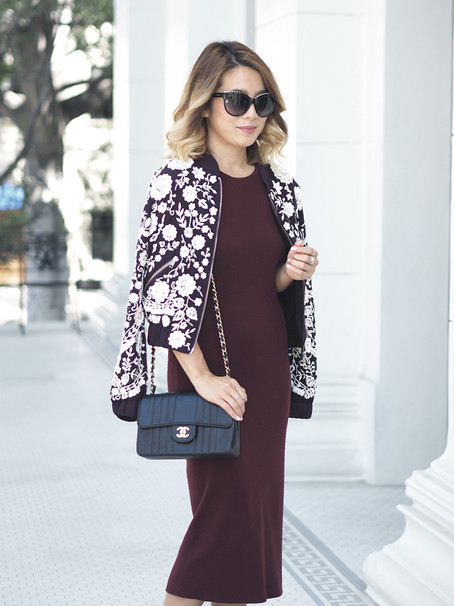 How to Layer Fall Colors: Burgundy