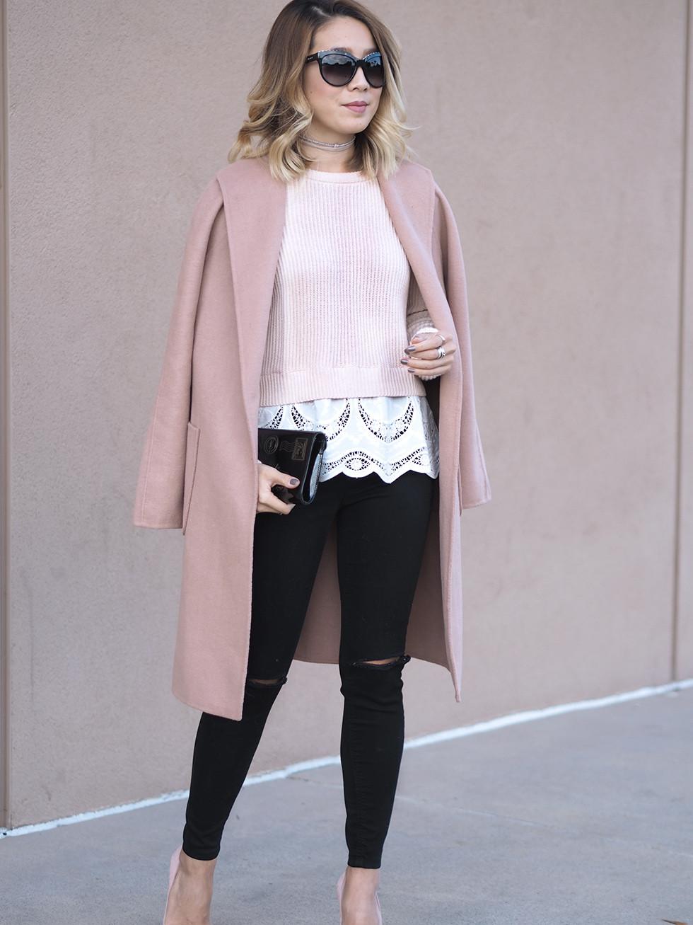 Blush Pink Coat | Lam in Louboutins