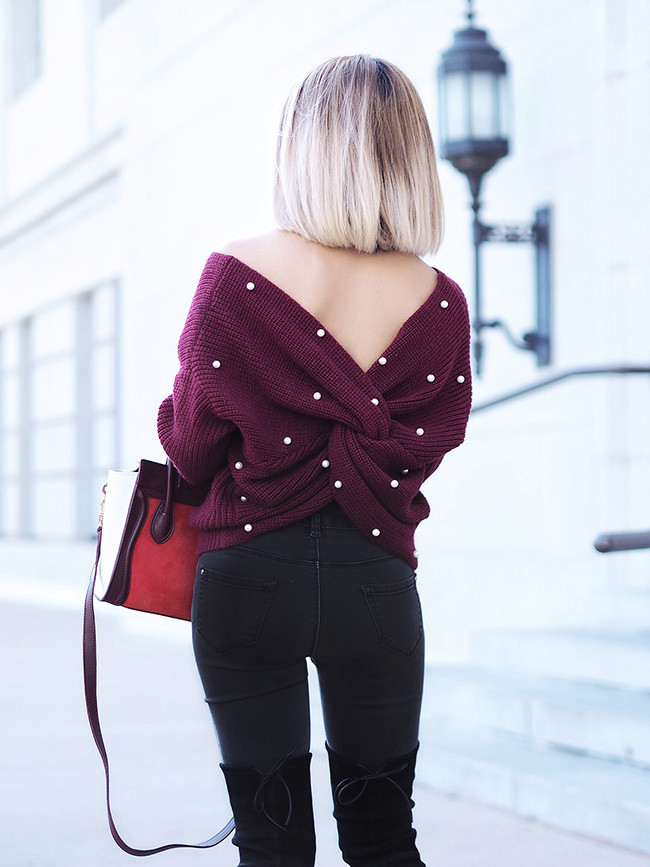 SheIn Sweater | Under $30 | Lam in Louboutins