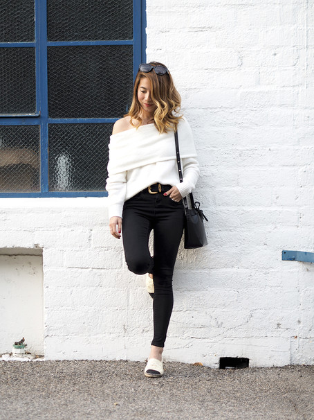 Casual Off-Shoulder Sweater