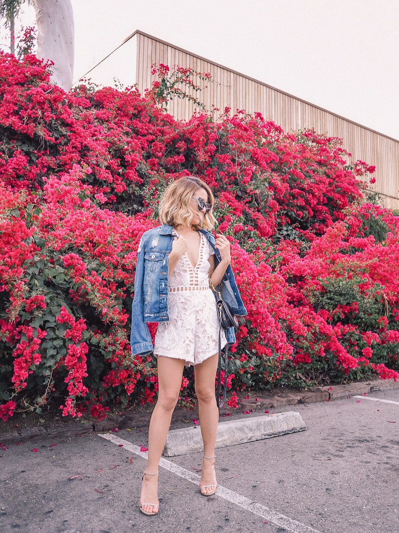 By The Way Lace Romper | Lam in Louboutins