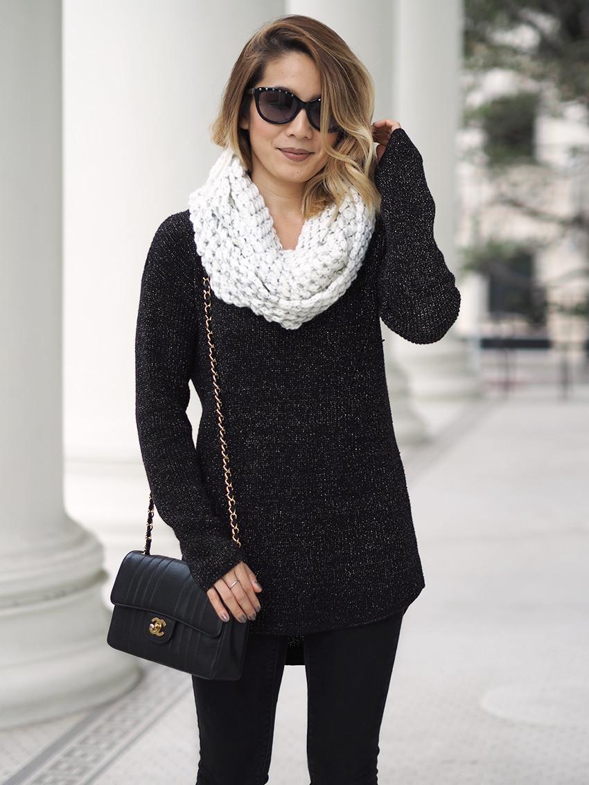 JCPenney Gold Lurex Sweater