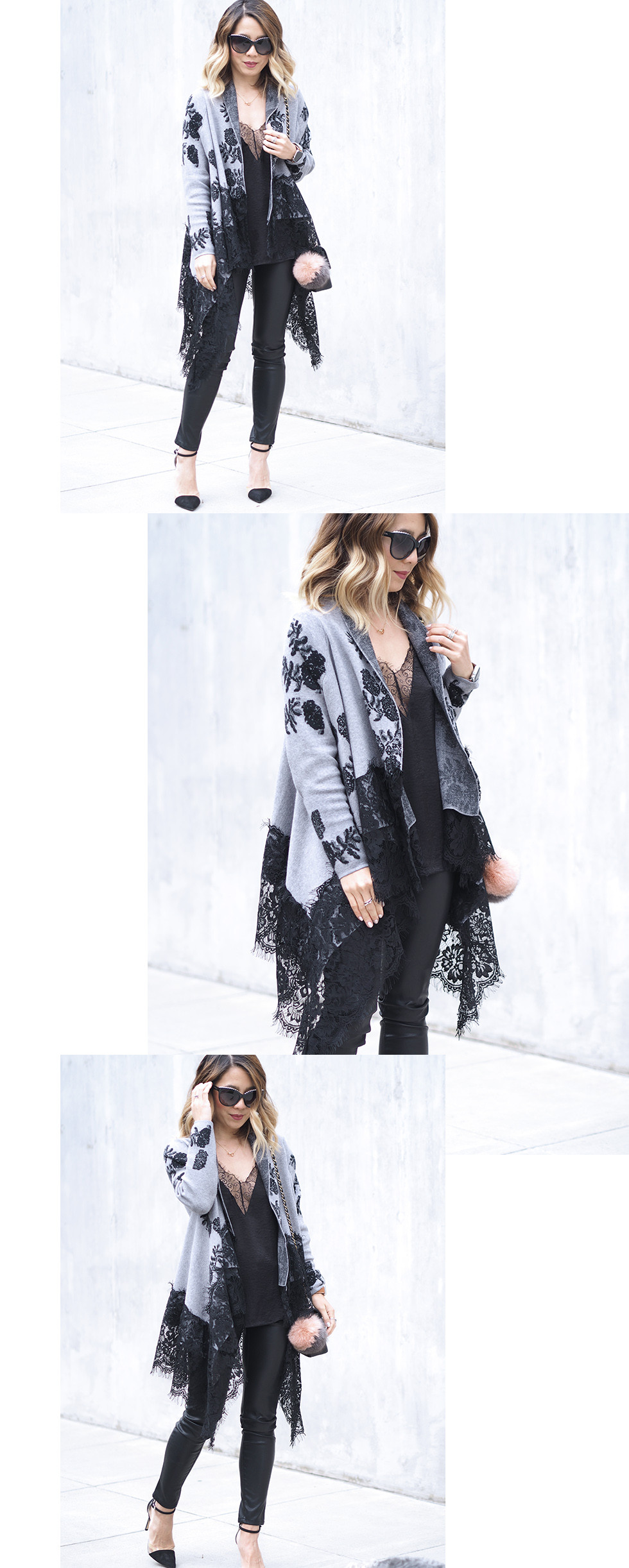 Dezzal Lace Cardigan | Lam in Louboutins