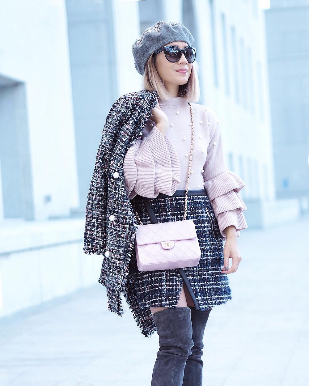 Pearls, Pink and Tweed | Lam in Louboutins